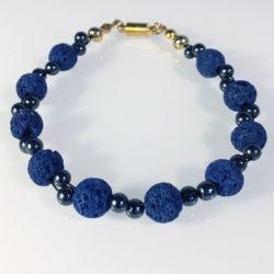 Blauer Lava und Hämatit